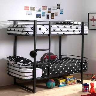 Kinderetagenbett in Schwarz Bügelgestell