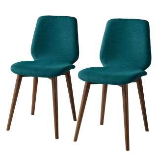 Stuhl Set in Grau Kunststoff Stahl (4er Set)