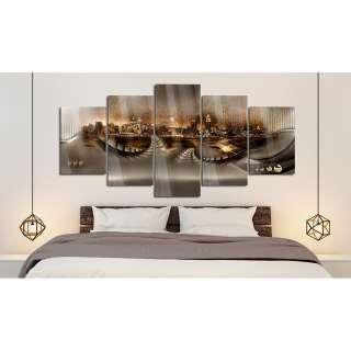 Home affaire Schlafzimmer-Set mit Softclose-Funktion (4-tlg.) »Romantika«, gelb, Landhaus Stil, Kleiderschrank 5trg, Bett 180cm, 2x Nako, FSC®-zertifiziert