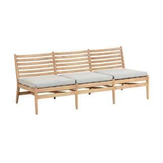 Holzbank 180 cm breit Eukalyptusholz