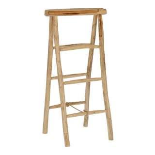 Leiter Regal aus Teak Massivholz 50 cm breit