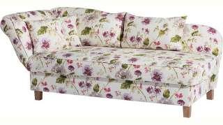 Max Winzer® Recamiere »Saturn«, Armlehne links oder rechts, mit Blumenmuster, inkusive 4 Kissen