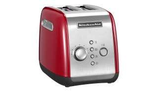 KitchenAid Toaster  5KMT221EER ¦ rot ¦ Kunststoff, Metall ¦ Maße (cm): B: 28,6 H: 21 T: 18,4 Elektrokleingeräte > Toaster - Höffner