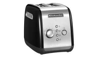 KitchenAid Toaster  5KMT221EOB ¦ schwarz ¦ Kunststoff, Metall ¦ Maße (cm): B: 28,6 H: 21 T: 18,4 Elektrokleingeräte > Toaster - Höffner