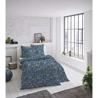 home24 Mako-Satin-Bettwaesche Blumen