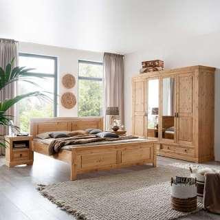 Massivholzschlafzimmer in Eichefarben gebeizt und geölt Kiefer (4-teilig)