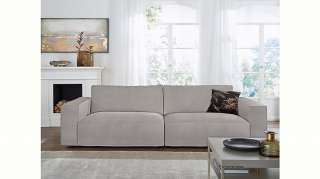 Teppich Ethno - Kunstfaser - Grau / Creme - 200 x 290 cm, Top Square