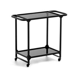 Küchenwagen in Schwarz Glasplatte