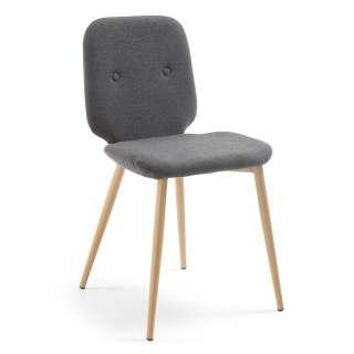 Ecksofa Orlando II Webstoff - Longchair davorstehend rechts - Ohne Schlaffunktion - Granit, loftscape