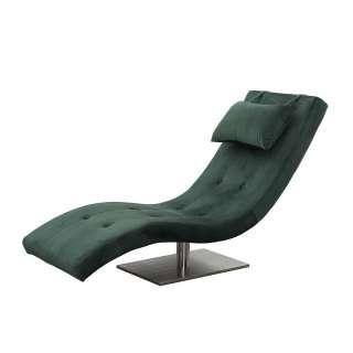 Relaxliege in Dunkelgrün Samt modern