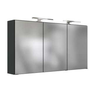 Badezimmer Spiegelschrank in Anthrazit 120 cm breit