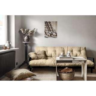 HOPPEKIDS IDA-MARIE Haus Bett Weiß 70x160cm mit Lattenrost und Rückenleiste 30-0008-32-07M