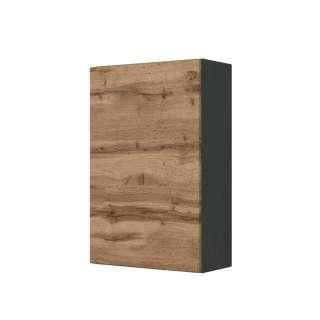 Badezimmer Hängeschrank in Wildeichefarben und Anthrazit 40 cm breit
