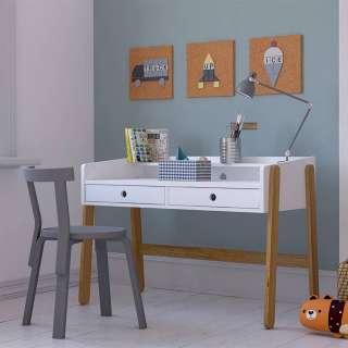 Kinderzimmer Schreibtisch in Weiß höhenverstellbar