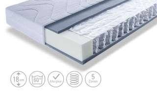 Ablageboard aus Kiefer Massivholz Weiß und Eiche