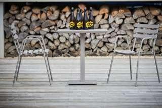 Esszimmerstuhl Set in Creme Weiß und Nussbaumfarben Buche Massivholz (2er Set)