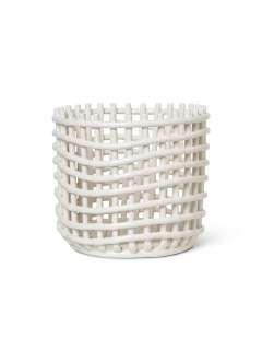 ferm LIVING - Ceramic Korb - groß - off-white - indoor