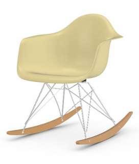 Vitra - Eames Fiberglass Chair RAR -glanzchrom - Ahorn gelblich - 01 Eames Parchment - indoor