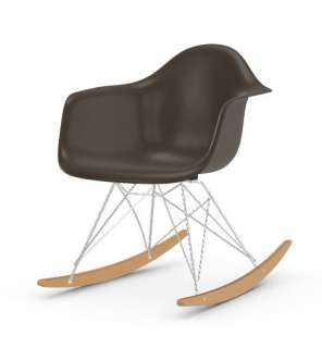 Vitra - Eames Fiberglass Chair RAR -glanzchrom - Ahorn gelblich - 04 Eames Elephant Hide Grey - indoor
