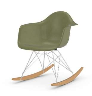 Vitra - Eames Fiberglass Chair RAR -glanzchrom - Ahorn gelblich - 05 Eames Sea Foam Green - indoor