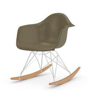 Vitra - Eames Fiberglass Chair RAR -glanzchrom - Ahorn gelblich - 06 Eames Raw Umber - indoor