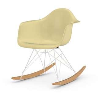 Vitra - Eames Fiberglass Chair RAR -weiss - Ahorn gelblich - 01 Eames Parchment - indoor