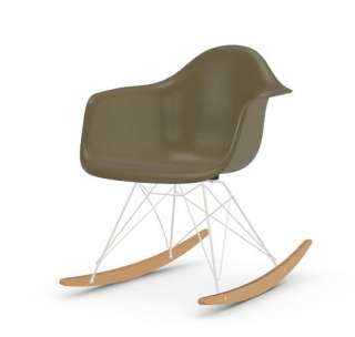 Vitra - Eames Fiberglass Chair RAR -weiss - Ahorn gelblich - 06 Eames Raw Umber - indoor
