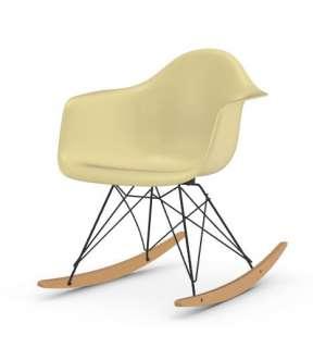 Vitra - Eames Fiberglass Chair RAR -basic dark - Ahorn gelblich - 01 Eames Parchment - indoor