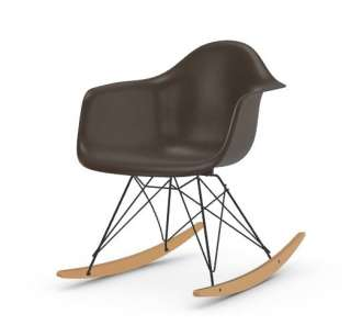 Vitra - Eames Fiberglass Chair RAR -basic dark - Ahorn gelblich - 04 Eames Elephant Hide Grey - indoor