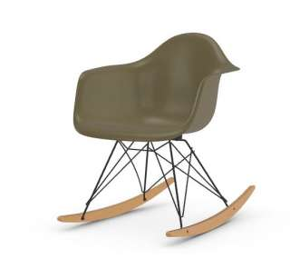 Vitra - Eames Fiberglass Chair RAR -basic dark - Ahorn gelblich - 06 Eames Raw Umber - indoor