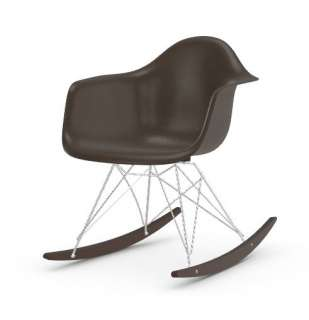 Vitra - Eames Fiberglass Chair RAR -glanzchrom - Ahorn dunkel - 04 Eames Elephant Hide Grey - indoor