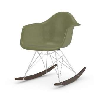 Vitra - Eames Fiberglass Chair RAR -glanzchrom - Ahorn dunkel - 05 Eames Sea Foam Green - indoor