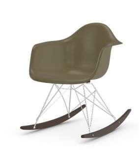 Vitra - Eames Fiberglass Chair RAR -glanzchrom - Ahorn dunkel - 06 Eames Raw Umber - indoor