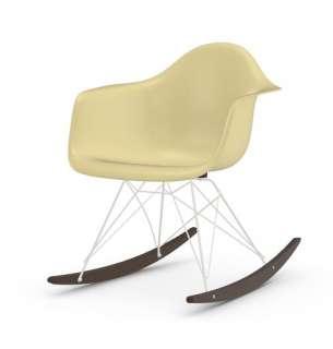 Vitra - Eames Fiberglass Chair RAR -weiss - Ahorn dunkel - 01 Eames Parchment - indoor