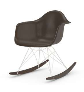 Vitra - Eames Fiberglass Chair RAR -weiss - Ahorn dunkel - 04 Eames Elephant Hide Grey - indoor
