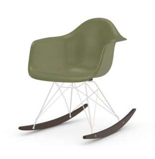 Vitra - Eames Fiberglass Chair RAR -weiss - Ahorn dunkel - 05 Eames Sea Foam Green - indoor