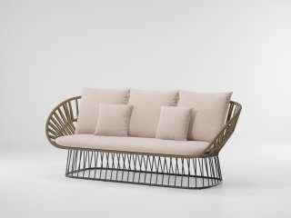 Kettal - Cala 3-Sitzer Sofa - manganese/ honeysuckle/ dry sand - outdoor