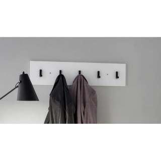 Wandgarderobenleiste in Weiß und Schwarz 80 cm breit