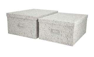 Aufbewahrungsboxen, 2er-Set ¦ weiß ¦ Papier, Metall ¦ Maße (cm): B: 28 H: 17 Regale > Regal-Aufbewahrungsboxen - Höffner