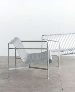 HAY - Palissade Lounge Chair Low - hot galvanized - outdoor