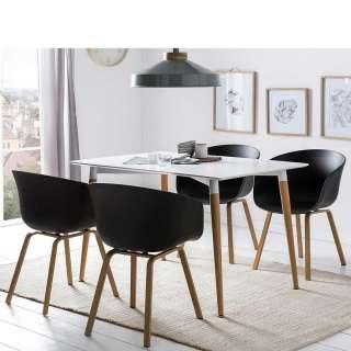 Esszimmereinrichtung in Schwarz und Weiß Skandi Design (5-teilig)