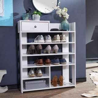 Schuhständer in Weiß einer Schublade