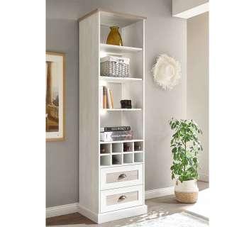 Weinregal in Pinie White Wash Optik Landhaus Design