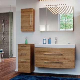 Badezimmermöbel Set in Eiche hell 140 cm breit (4-teilig)