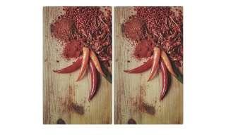 KHG Herdabdeckplatten, 2er-Set ¦ mehrfarbig ¦ Glas  ¦ Maße (cm): B: 30 H: 1 T: 52 Küchenzubehör & Helfer > Herdabdeckplatten - Höffner