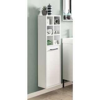 Badezimmer Schrank in Weiß hängend