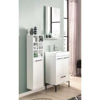 Badezimmerset in Weiß und Schwarz modern (3-teilig)