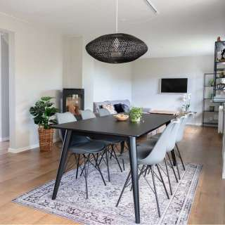 Tischgruppe in Schwarz und Grau Skandi Design (7-teilig)