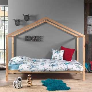 Haus Kinderbett aus Kiefer Massivholz 90x200 cm