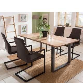 Essplatzgruppe mit Baumkanten Tisch Loft Design (5-teilig)